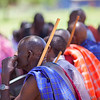 A group of Maasai during a training session