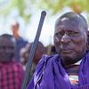 A Maasai man in Namanga
