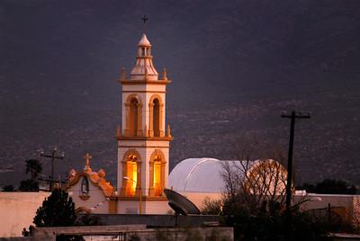 Iglesia historica del municipio de Mina. Nuevo Leon, Mexico.