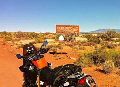 Not a tourist entrance into Arches National Park.