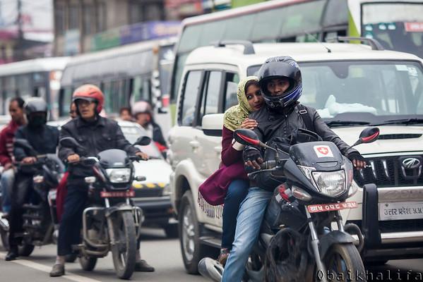 Daily commute. Kathmandu, Nepal