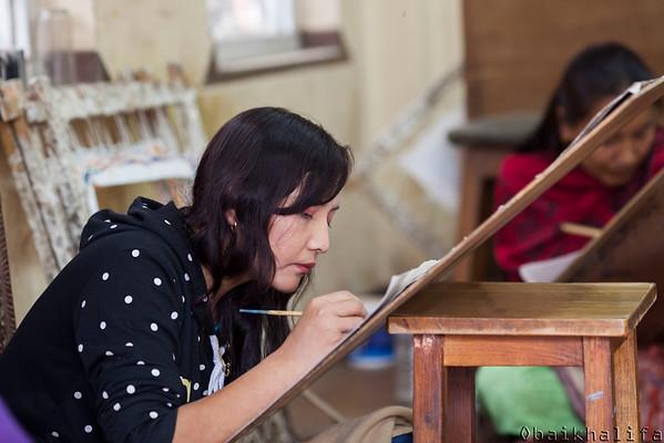 Painting in Bhaktapur workshop.