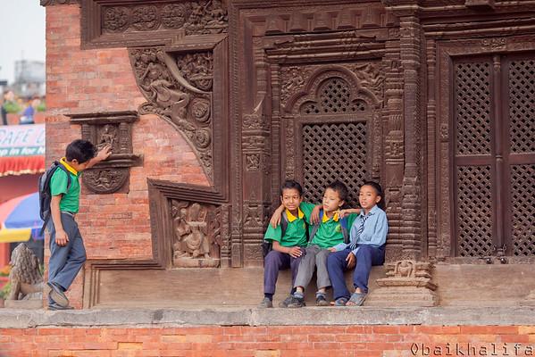 School Children. Bhaktapur, Nepal