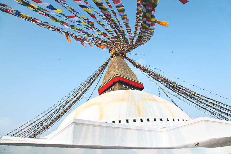 Boudhanath with Flags — Kathmandu, Nepal / Боднатх с флажками — Катманду, Непал