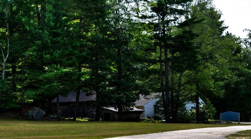 Carol's house and barn in Hillsboro Center, New Hampshire