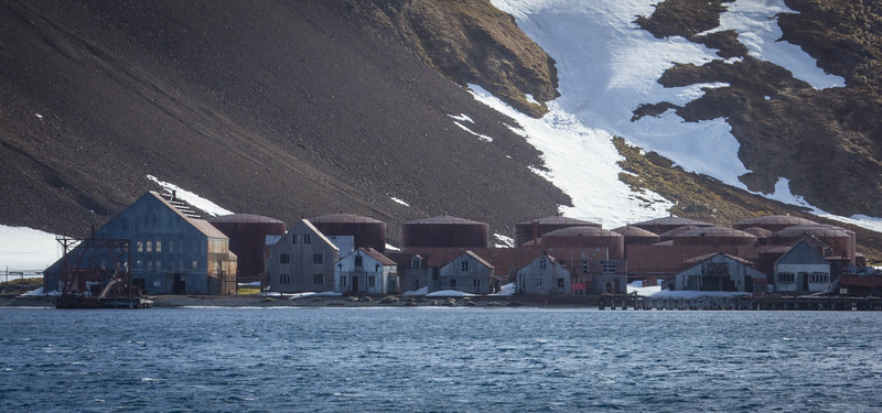 View of whaling station that was abandoned in mid 1961.