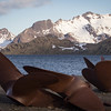 And - the harbor - seen above some rusted propellers from whaling ships.