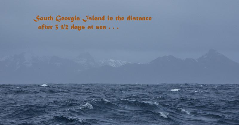 First views of South Georgia Island