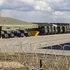 Park of the military base - trucks.
