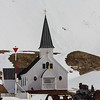 This typical Norwegian church is the only building at the site that retains its original function.