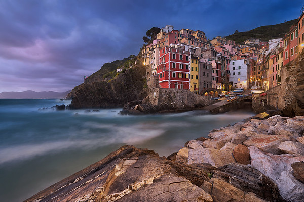 Moments after sunset in Riomaggiore