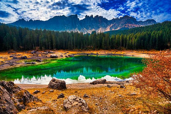 Lake Carezza - The Pearl Of  Dolomites