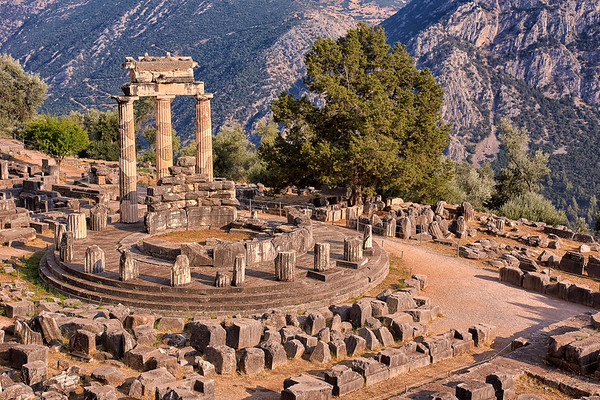 Ruins of Temple in Ancient Delfoi