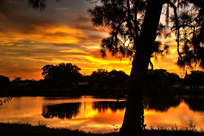 Early Morning Sunrise over the lake in Nokomis