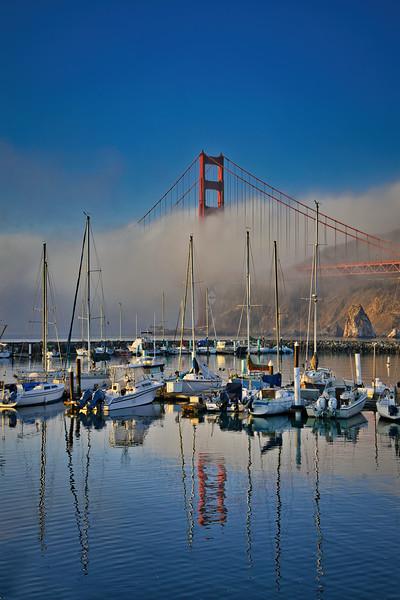 Golden Gate Bridge Emerging from the Fog