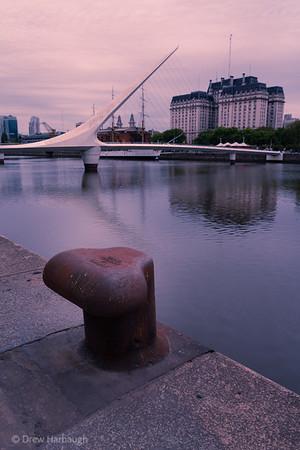 Bollard By The Bridge