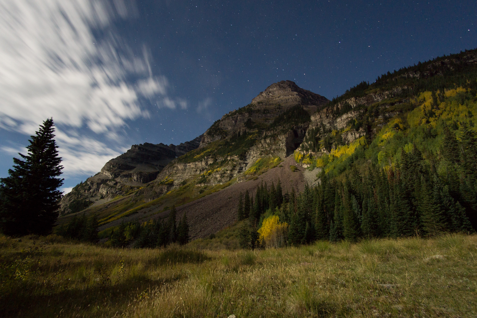 Moonlight on South Maroon Peak