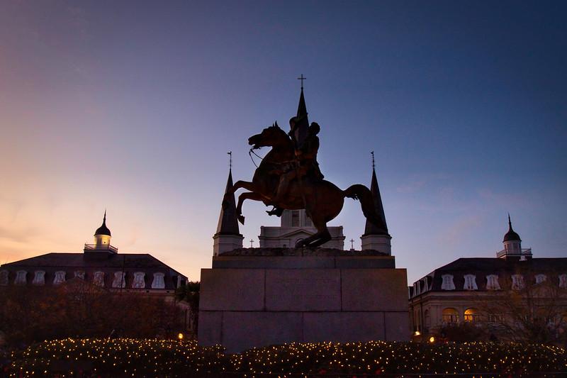 Statue in Jackson Square