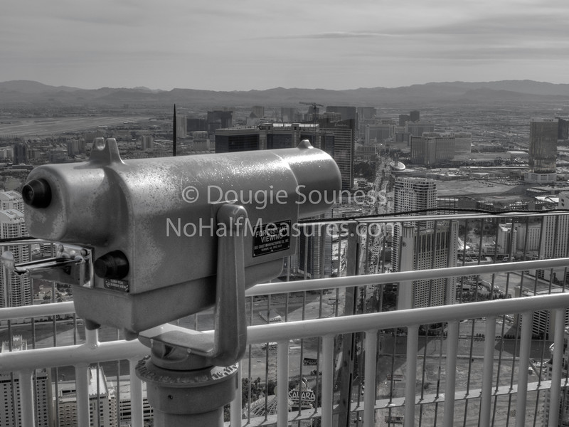 'Distant Viewing' - b&w<br /> 18 February 2012<br /> Las Vegas, Nevada, USA