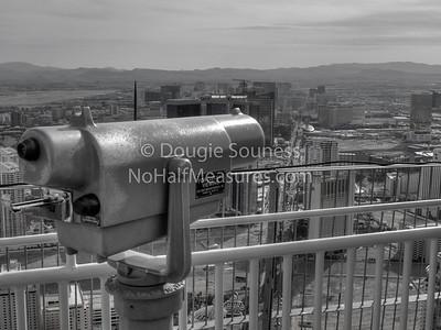 'Distant Viewing' - b&w 18 February 2012 Las Vegas, Nevada, USA