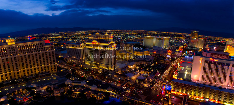 'Vegas at Dusk' - panorama<br /> 18 February 2012<br /> Las Vegas, Nevada, USA