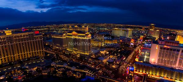 'Vegas at Dusk' - panorama 18 February 2012 Las Vegas, Nevada, USA