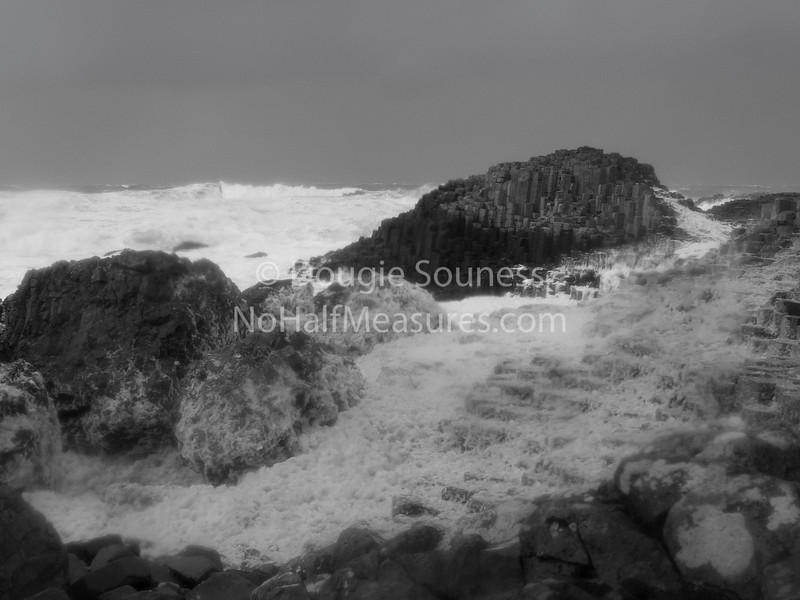 'Giant's Causeway'<br /> 29 December 2011<br /> - storm lashed volcanic columns.<br /> County Antrim, Northern Ireland