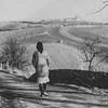 Mrs. Luebben (Mutti) strolling on the outskirts of Vienna