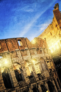 Glowing Colosseum