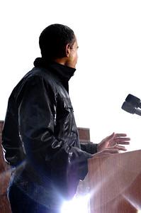 Senator Barack Obama goes to outdoor evnt in Chester  PA University Main Quad on October 28, 2008 VALERIE GOODLOE