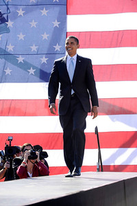Senator Barack Obama joins Senator Bill Nelson in Sarasota Florida at CHANGE WE NEED RALLY on Wednesday October 30, 2008 VALERIE GOODLOE