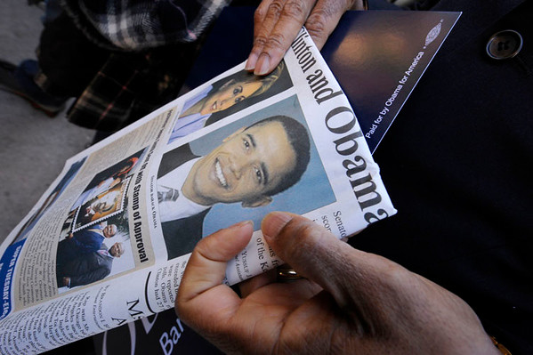 Barack Obama attends LOS ANGELES TOWN HALL MEETING at Los Angeles Trade Technical College in Los Angeles California on January 31, 2008. VALERIE GOODLOE