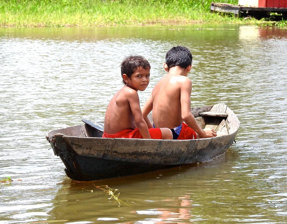 Young Boys, Amazon River, Brazil
