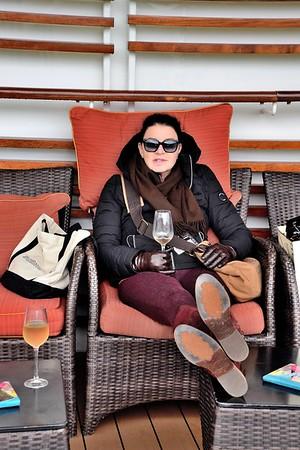 Afternoon Rosé on the Celebrity Solstice Cruising Alaska