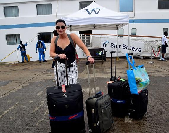 DISEMBARKED, COLON, PANAMA