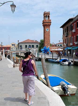 WALKING THE STREETS IN MURANO, ITALY