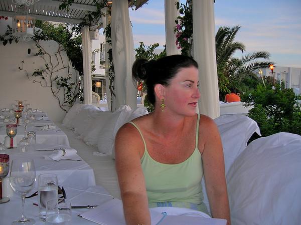 MOONLIGHT DINNER AT THE BELVEDERE IN MYKONOS