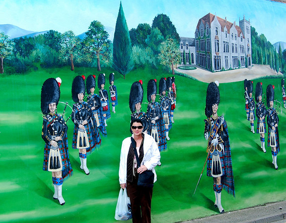 AMONGST THE BAGPIPERS, INVERGORDON, SCOTLAND
