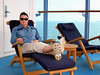 RELAXING ON BOARD OCEANIA INSIGNIA OFF THE COAST AT NAPLES, ITALY
