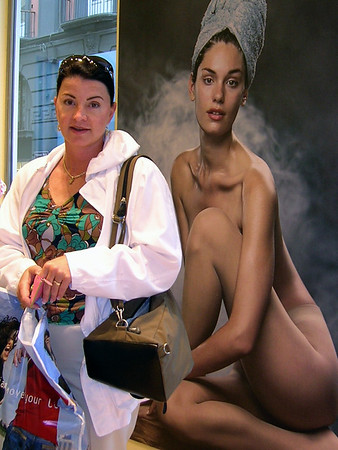 EUROPE, LESSSA WITH AND WITHOUT HER CLOTHES ON