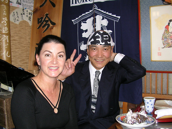 DRINKING WITH A NEW FRIEND IN KYOTO