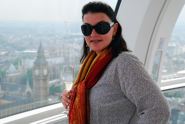 OVERLOOKING BIG BEN WHILE ON A CHAMPAGNE FLIGHT OF THE LONDON EYE
