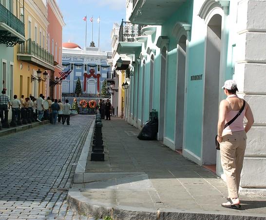 Curious Street Activity in Old San Juan