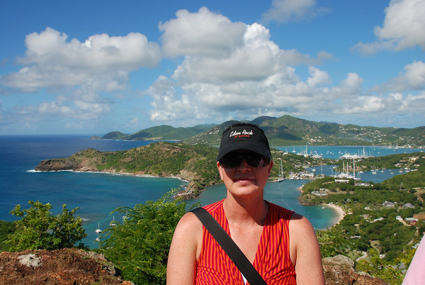OVERLOOKING NELSON'S DOCKYARD AT ENGLISH HARBOUR ON ANTIGUA