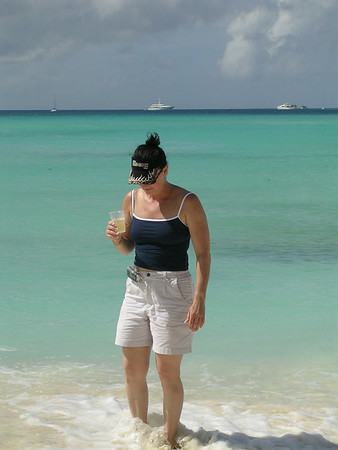 WARM WATER WADING WITH COLD CHAMPAGNE IN LOS ROQUES, VENEZUELA
