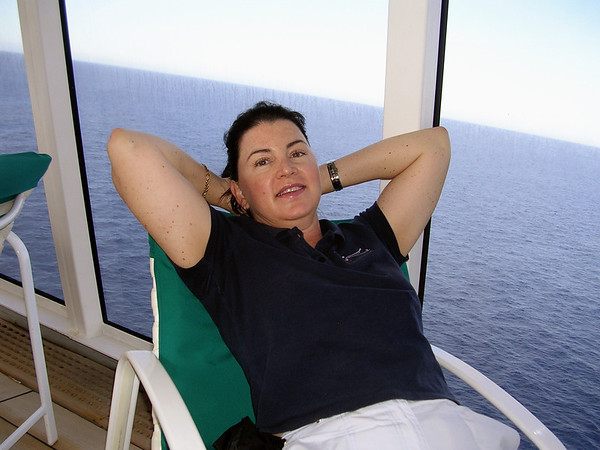 RELAXING ON BOARD CRYSTAL SYMPHONY