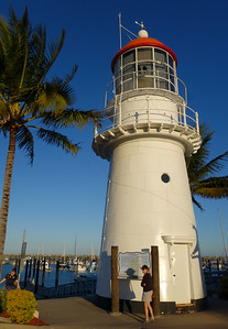 160730 1709 - This lighthouse (which still works) was re-located from one of the Percy Islands to the Mackay Marina.