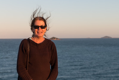 160730 1727 - Sue at Lamberts Lookout at Slade Point, Mackay.