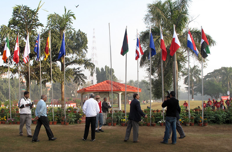 Country flags from all 'Royal' countries in attendance