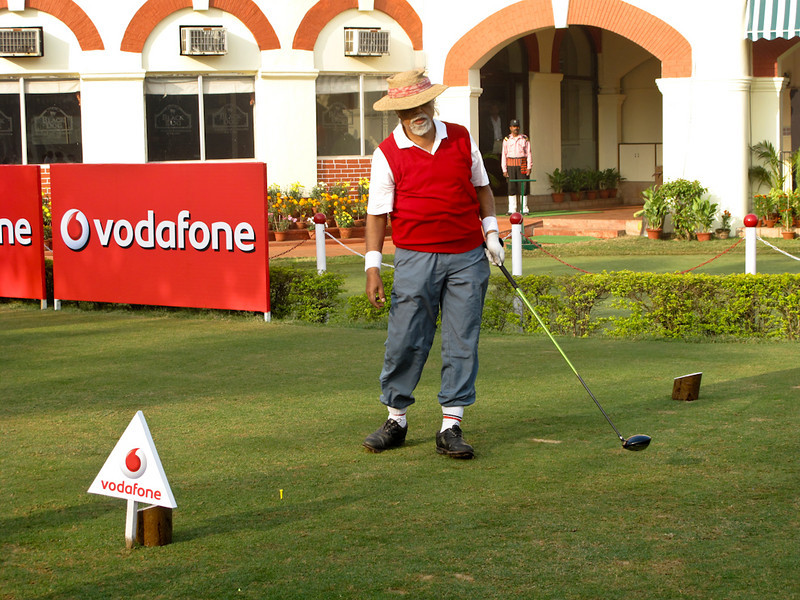 Aveek Sarkar, Captain Royal Calcutta Golf Club. Accomplished businessman with a great sense of humour and a unique wardrobe.